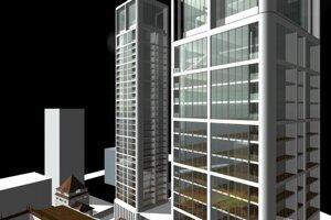Vizualizácia pôvodného projektu Century Residence.