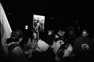 Foto z protifašistického pochodu v Myjave.