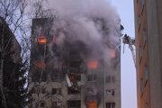 Požiar v bytovke.
