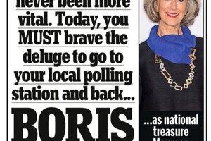 Váš hlas nikdy nebol dôležitejší. Dnes sa musíte odvážiť a ísť do vašej miestnej volebnej miestnosti a podporiť... Borisa.