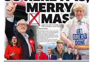 Už je to tu, šťastné Vianoce, píše Metro. X v slove Vianoce zobrazuje ako krížik na hlasovacom lístku.