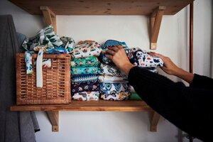 Purup Nohrová používa pre deti látkové plienky z druhej ruky. Chce menej spotrebovávať.