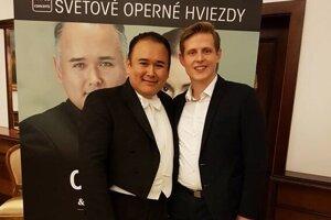 Andrej s Javierom Camarenom po koncerte vo Filharmóni