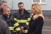 Prezidentka Zuzana Čaputová v Prešove počas stretnutia s hasičmi.