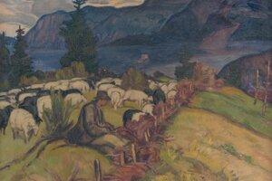 Ovečky a pastieri u Martina Benku nemôžu chýbať.