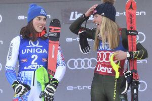 Petra Vlhová a Mikaela Shiffrinová.