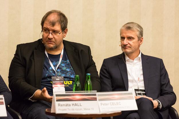 Molekulárny biológ Peter Celec z LF UK (vľavo) a vedec, podnikateľ a politik Róbert Mistrík.