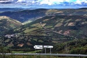 Výhľad z dedinky O Cebreiro