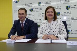 Miroslav Šatan a Erika Jurinová.