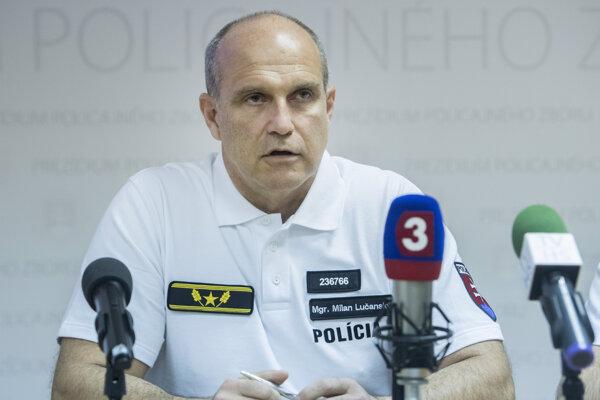 Policajný prezident Milan Lučanský.