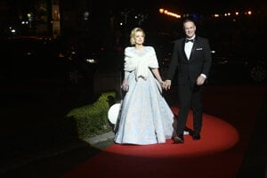 Zlatica Švajdová Puškárová s manželom Patrikom Švajdom
