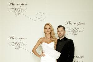 Michaela Kocianová, modelka a Bruno Ciberej
