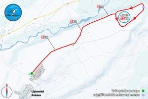 Mapa tratí pri Liptovskej Kokave.
