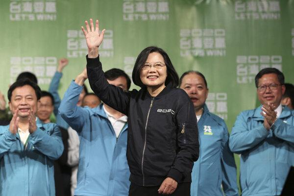 Súčasná prezidentka Taiwanu, prozápadná politička Cchaj Jing-wen.