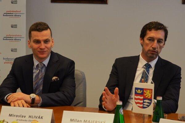 Miroslav Hlivák a Milan Majerský.
