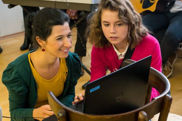 Ela Klementová (vľavo) zastrešuje projekt od začiatku.