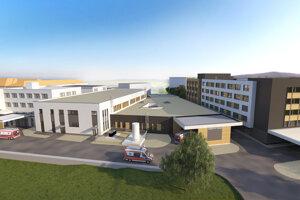 Takto má vyzerať nová budova urgentného príjmu.