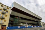 Priečelie rekonštruovanej budovy Slovenskej národnej galérie v Bratislave.