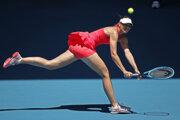 Maria Šarapovová v 1. kole Australian Open 2020.