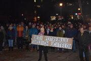 Protestné zhromaždenie na Vajanského námestí v Martine.