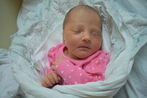 Miriam Lacková (3050 g, 49 cm) sa narodila 19. januára Michaele a Marekovi z Nového Mesta nad Váhom.