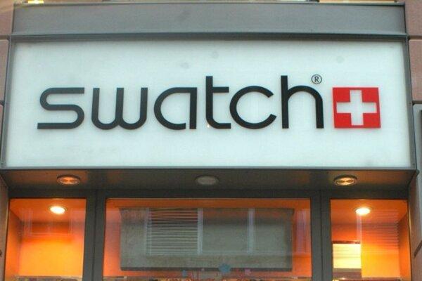 Predajňa hodiniek značky Swatch vo Frankfurte nad Mohanom.
