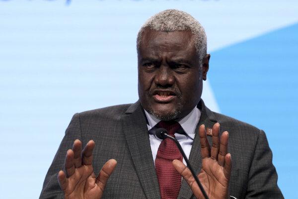 Predseda Komisie Africkej únie (AÚ) Moussa Faki Mahamat.
