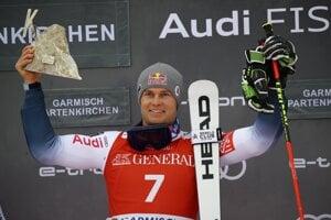 Alexis Pinturault vyhral obrovský slalom v Garmisch-Partenkirchene 2020.