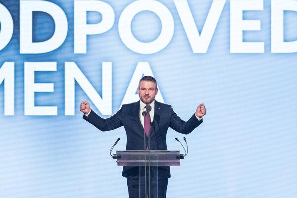 Volebný líder Smeru a premiér Peter Pellegrini.