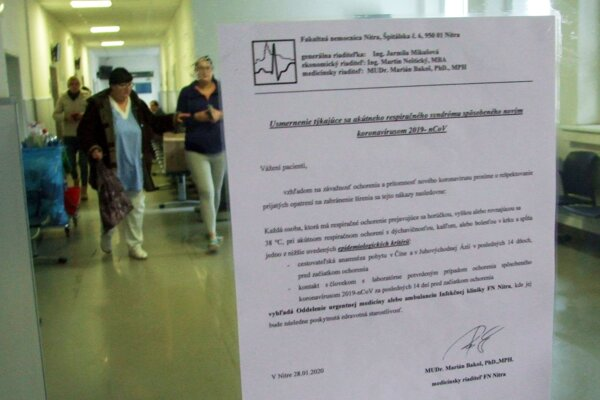 Usmernenie ku koronavírusu v nitrianskej nemocnici.
