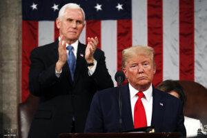 Americký prezident Donald Trump počas prejavu o stave Únie.
