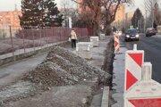 Obnova Saratovskej ulice v Leviciach.