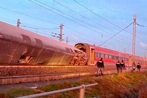 Na severe Talianska sa 6.2.2020 vykoľajil rýchlovlak.