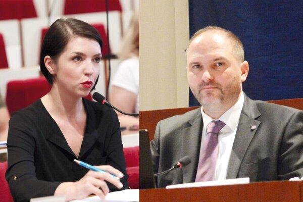 Poslankyňa Slivenská a primátor Polaček.