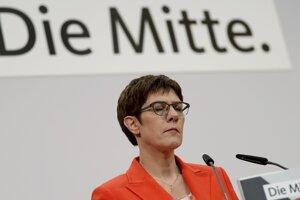 Šéfka CDU Annegret Krampová-Karrenbauerová.