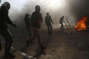 Protest Palestínčanov.