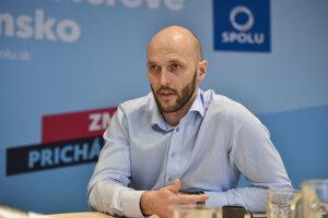 Líder koalície strán Progresívne Slovensko-Spolu Michal Truban.