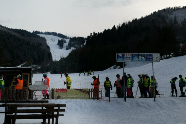 Lyžiarske stredisko Plejsy pri Krompachoch.