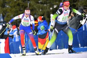Slovenská biatlonistka Veronika Machyniaková na trati počas súťeže miešaných štafiet na 4x6 km na majstrovstvách sveta v biatlone v talianskej Anterselve.