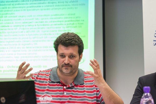 Tomáš Földes, zo Slovenského národného strediska pre ľudské práva.