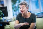 Eurokomisárka pre vnútorné záležitosti Ylva Johanssonová.