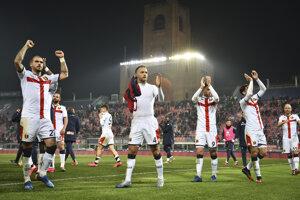 Futbalisti Bologne.