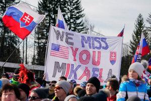 """""""Chýbaš nám, Mikaela,"""" odkázali Slováci Shiffrinovej."""