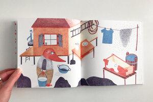 Ukážka z knihy Včelár Jožko, ktorú ilustrovala a napísala Simona Čechová.