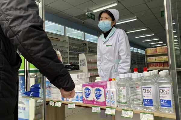 Lekárnička v Pekingu.