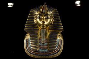 Tutanchamónova pohrebná maska.