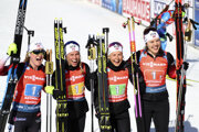 Nórky Marte Olsbuová Roeiselandová, Tiril Eckhoffová, Ingrid Landmark Tandrevoldová a Synnoeve Solemdalová vyhral štafetu na MS v biatlone 2020 v Anterselve.