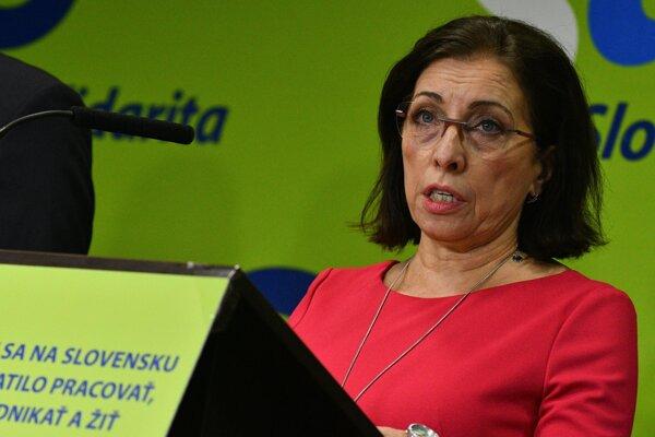 Anna Zemanová, šéfka poslaneckého klubu SaS.