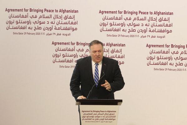 Americký minister zahraničných vecí Mike Pompeo v Dauhe.