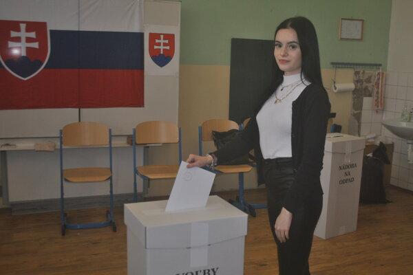 Karin po prvý raz volila aj sedela v komisii.